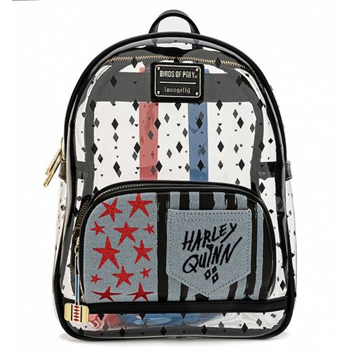 Birds of Prey Harley Quinn Clear Mini Backpack