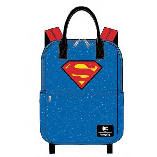 DC Comics Superman Shield and Stars Nylon Backpack