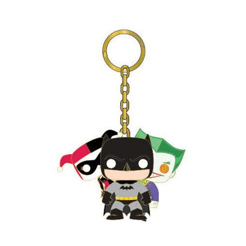 Batman with Joker & Harley Quinn Pop! by Loungefly Key Chain