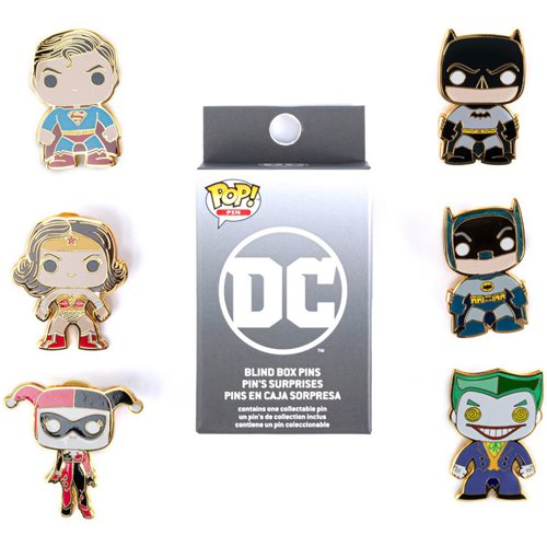 DC Comics Pop! by Loungefly Blind-Box Pins 12-Piece Tray