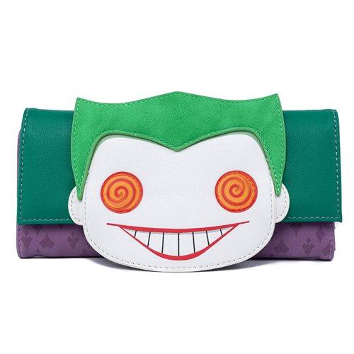 Batman Joker Eyes Pop! by Loungefly Flap Wallet