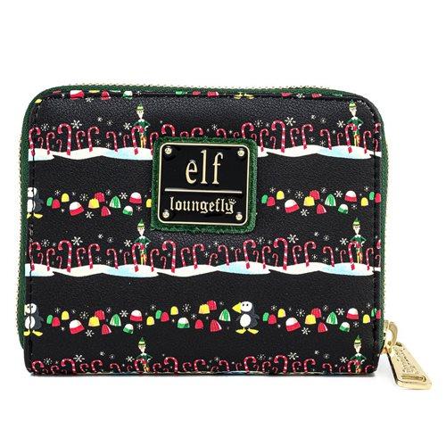 Elf Candy Cane Forrest Zip-Around Wallet