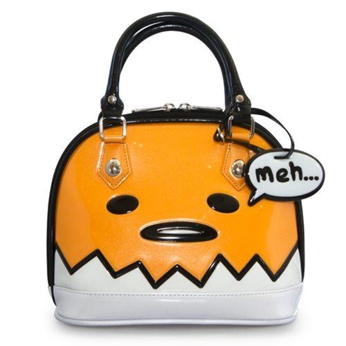 Gudetama Big Face Patent Dome Purse