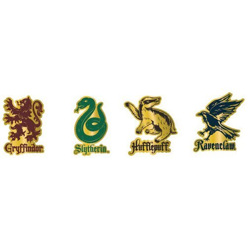 Harry Potter House Mascots 4-Piece Enamel Pin Set