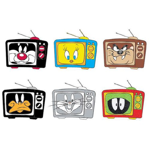 Looney Tunes TV Blind-Box Enamel Pin 12-Piece Display Tray