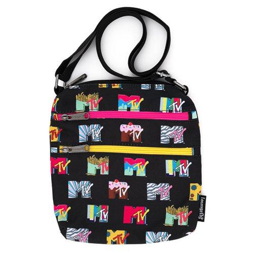 MTV Logos Nylon Passport Bag