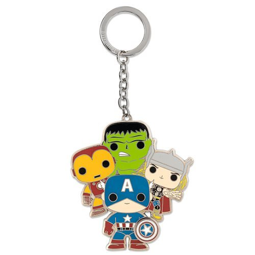 Marvel Pop! Loungefly Classic Avengers 2 1/2-Inch Key Chain