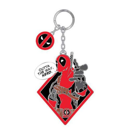 Deadpool Outta the Way Nerd Enamel Key Chain