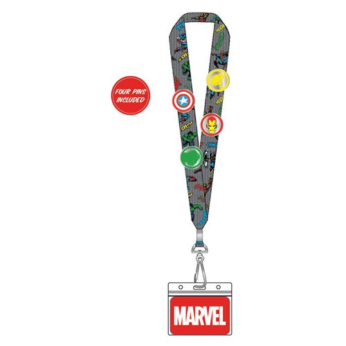 Marvel Classic Avengers Crew Lanyard with Enamel Pins