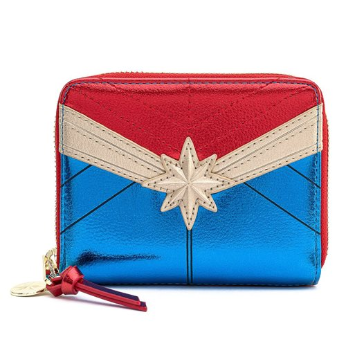 Marvel Captain Marvel Classic Zip-Around Wallet