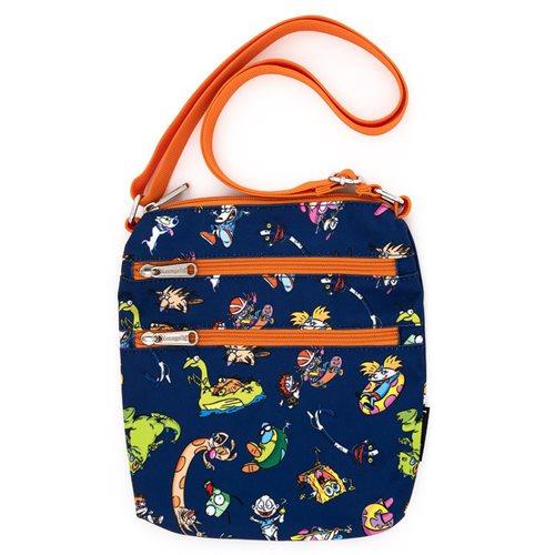 Nickelodeon Retro Characters Nylon Passport Bag