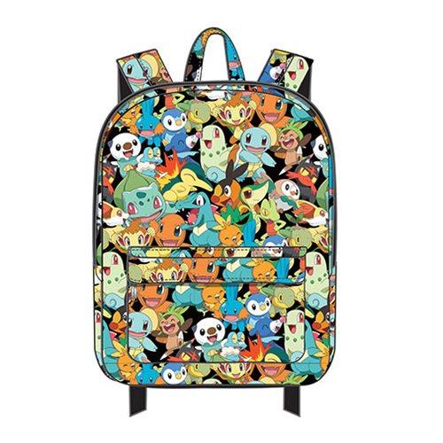 Pokemon Starter Print Nylon Backpack