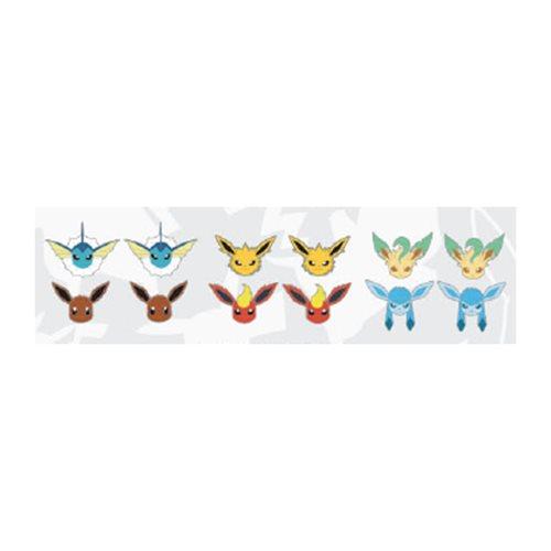 Pokemon Eevee Evolution Earring 6-pack