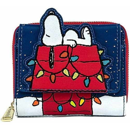 Peanuts Snoopy House Holiday Zip-Around Wallet