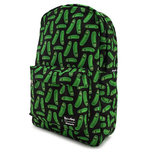 Rick and Morty Pickle Rick Print Backpack
