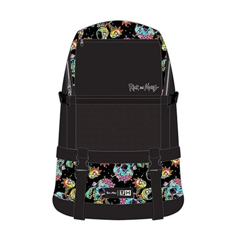Rick and Morty Psychedelic Skull Backpack