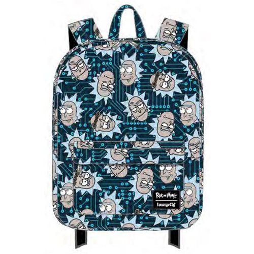 Rick and Morty Computer Chip Rick Nylon Backpack