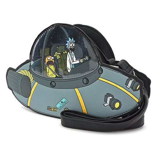 Rick and Morty Spaceship Crossbody Purse