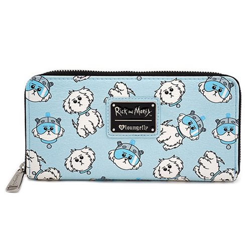 Rick and Morty Snowball Print Zip-Around Wallet