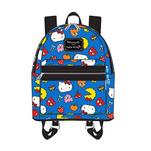 Hello Kitty Pac-Man Character Print Mini Backpack