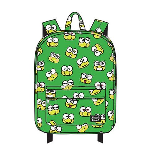 Hello Kitty Keroppi Face Print Nylon Backpack
