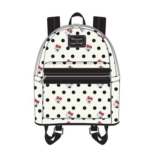 Hello Kitty Polka Dot PU Mini Backpack