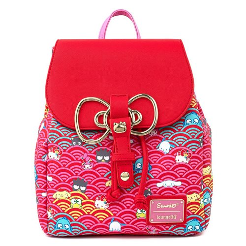 Sanrio 60th Anniversary Gold Bow Flap Backpack