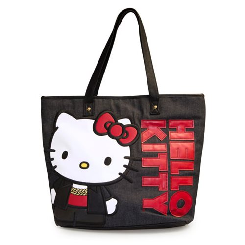 Hello Kitty Red and Black Applique Tote