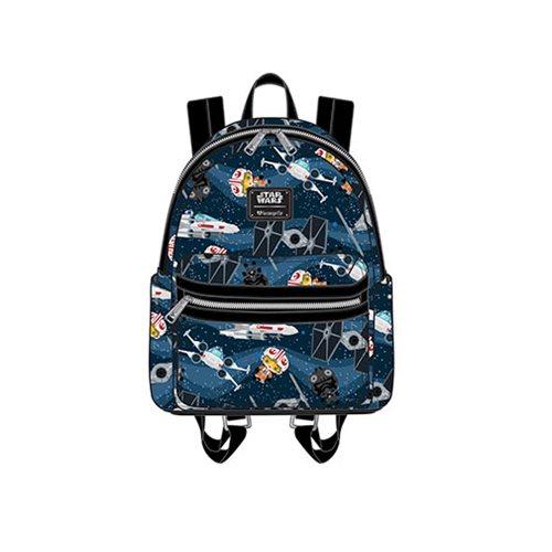 Star Wars Chibi Ships Print Mini Backpack