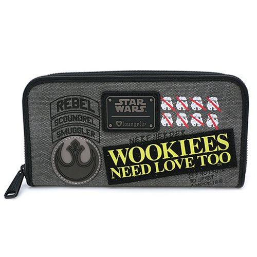 Star Wars Rebel Wookie Patch Zip-Around Wallet