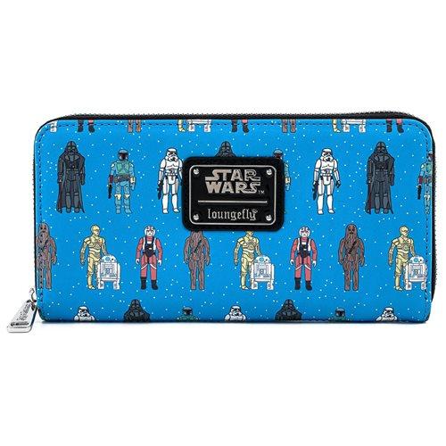 Star Wars Action Figures Print  Zip-Around Wallet