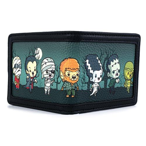 Universal Monsters Chibi Characters Bi-fold Wallet