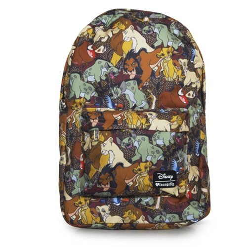 Lion King Character Print Backpack