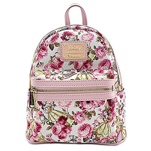 Beauty and the Beast Belle Character Floral Mini Print Backpack