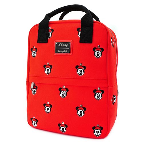 Minnie Mouse Face Embroidered Canvas Mini-Backpack