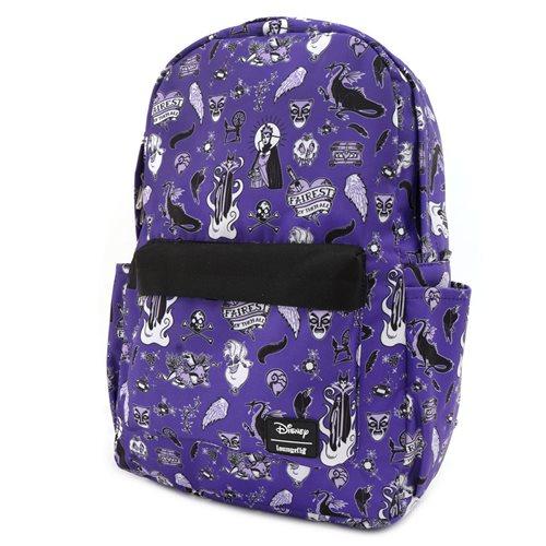 Villains Icons Print Nylon Backpack