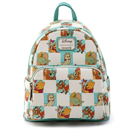 Disney Multi-Character Checker Mint Mini-Backpack