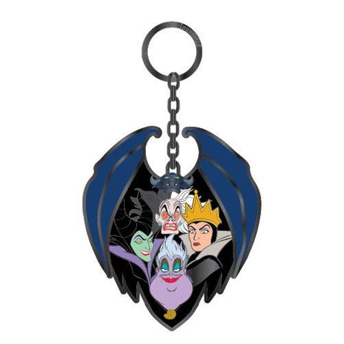 Disney Villains Group Enamel Key Chain