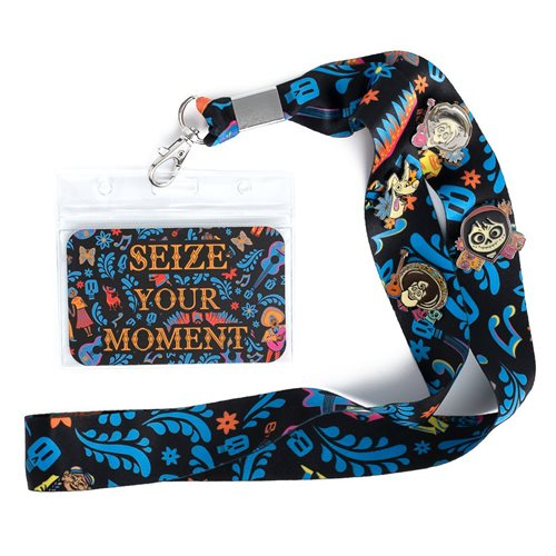 Coco Seize Your Moment Lanyard with 4-Piece Enamel Pins Set