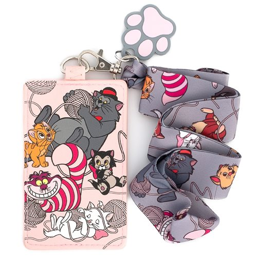 Disney Cats of Disney Lanyard with Cardholder