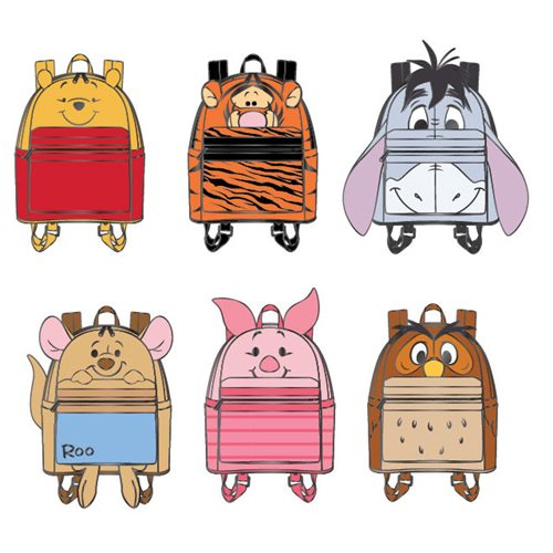 Winnie the Pooh Backpack Blind-Box Enamel Pin 12-Piece Tray