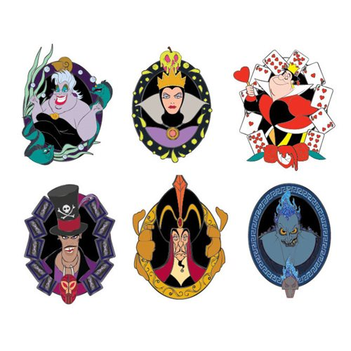 Disney Villains Blind-Box Enamel Pins 12-Piece Tray