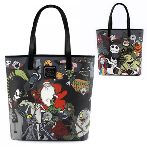 Nightmare Before Christmas Character Print Tote Purse - Loungefly ...