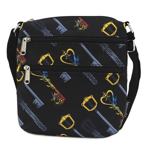 Kingdom Hearts Keys Print Nylon Crossbody Purse