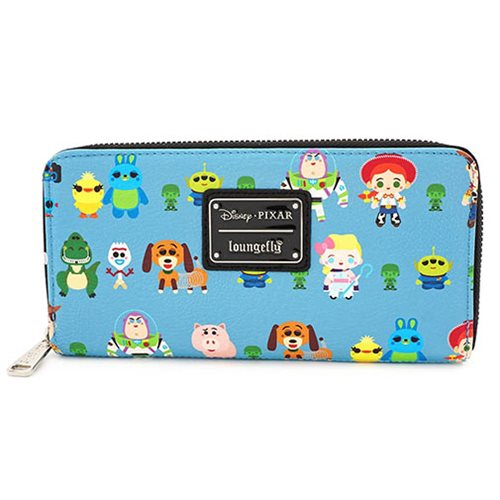 Toy Story Chibi Print Top-Zip Wallet