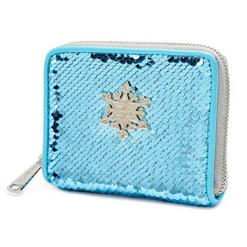 Frozen Elsa Reversible Sequin Zip Around Wallet