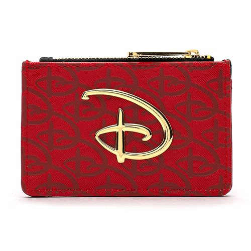 Disney Red-and-Black Debossed Coin Purse