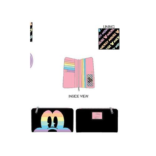 Disney Mickey Mouse Pastel Rainbow Flap Wallet