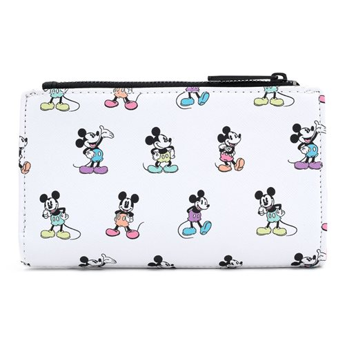 Disney Mickey Mouse Pastel Poses Flap Wallet