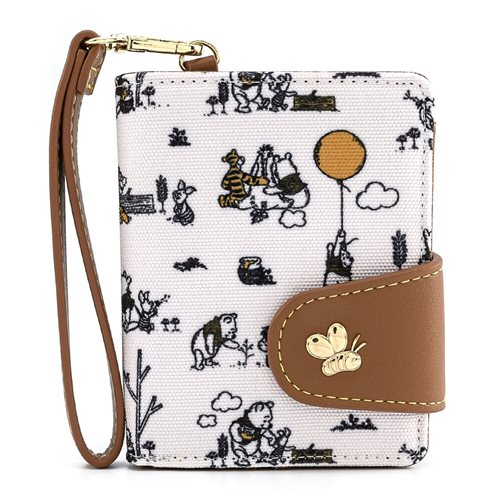Winnie the Pooh Line Drawing Flap Wallet